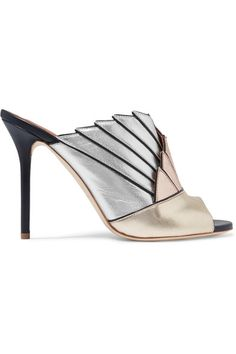 Malone Souliers - Donna Metallic Leather Mules - Gold - IT37.5