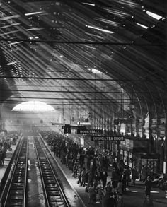 Interior of a London train station