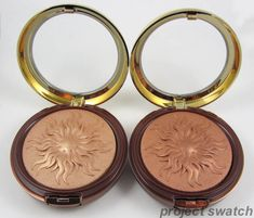 Physicians Formula Bronze Booster Glow-Boosting Airbrushing Bronzing Veil in Light to Medium (left) and Medium to Dark