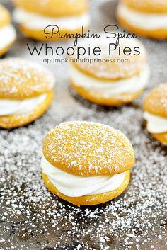 Pumpkin Spice Whoopie Pie Recipe #recipe #dessert