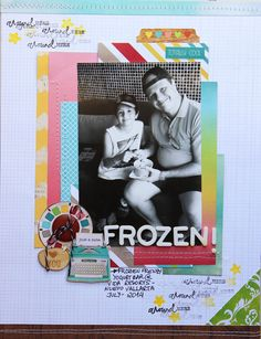 #Papercraft #Scrapbook #Layout.  Frozen Yoghurt by Bi Medeiros at @studio_calico