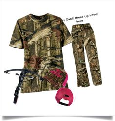 """Bow hunting"" by sharlaarnold on Polyvore......minus the cross bow....I'm a compound ladies!"
