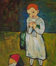 'Child with a Dove', 1901 - Picasso