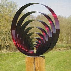 Large Pulse Metal Garden Sculpture - Contemporary Art Statue | eBay