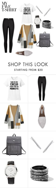 """Owning It"" by qpdoll88 ❤ liked on Polyvore featuring River Island, Steve Madden, Humble Chic, Links of London, Henri Bendel and MyFaveTshirt"