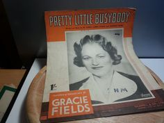 Pretty little Busybody vintage music sheetwords and music by Al Lewis featured and broadcast by Gracie Fields