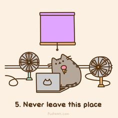 This is so cute! Pusheen is on catflix,has fans and the curtains are closed! And he's provided with food :) Genius! Lol ^-^