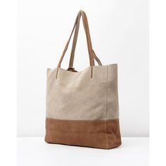 The Addison Road Bondi bag is made from the softest suede in a beautiful neutral colourway. Designed with two comfortable shoulder straps, the tote is an everyday essential.  - Genuine suede - Colour-blocked design  - Twin shoulder straps - ID tag