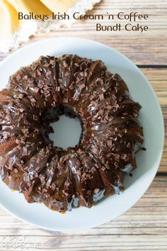 Baileys Irish Cream Bundt Cake #cake #bundtcake #baileysirishcream | A Spicy Perspective