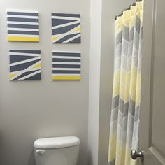Bathroom Yellow And Gray yellow and gray shower curtain bathroom | grey & yellow shower