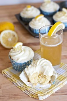 Summer Shandy Cupcakes are a must-make for Father's Day.