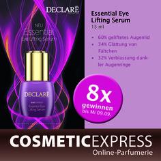 Gewinne eines von 8 Essential Eye Lifting Serum von Declaré bei unserem Gewinnspiel https://www.facebook.com/CosmeticExpressCom
