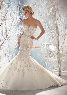 Hof-Schleppe Elegant & Luxuriös Spitze Brautkleider 2013
