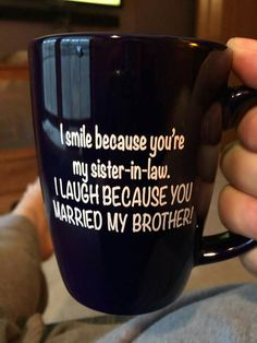 Ha this is perfect for my sister-in-law
