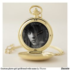 Love you custom photo girl girlfriend wife pocket watch. A gift for Valentine, Valentine's Day White Clocks, Watch Photo, Birthday Gifts For Girls, Make A Gift, Wedding Announcements, Custom Photo, Girl Gifts, Valentine Gifts, Gifts For Him