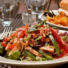 Spicy warm salad with chicken and soy sauce – FitCaste