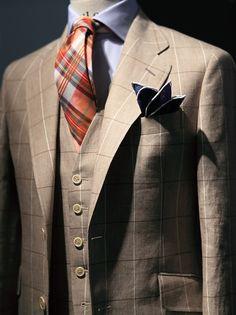 """""""Linen and cotton work well together, beige and orange too / El lino y algodon funcionan bien juntos, asi como el beige y el naranja"""""""