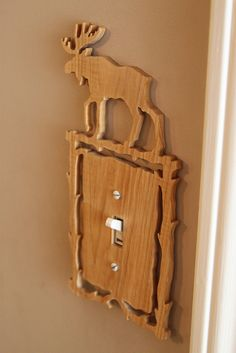 create a decorative light switch cover. but not as hideous as this one.. hehe