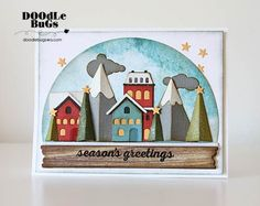 Today we have a wonderful, festive frame to share. Mary used the new Snow Globe die from Tim Holtz to create this amazing, dimensional vill...