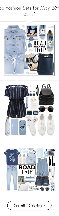 """Top Fashion Sets for May 26th, 2017"" by polyvore ❤ liked on Polyvore featuring Off-White, Diesel, Ray-Ban, Nikon, Hermès, WithChic, Witchery, S'well, Michael Kors and Skinnydip"