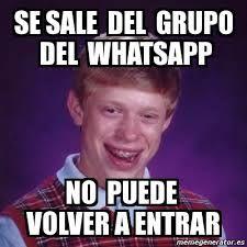 Resultado De Imagen Para Memes Sobre Grupos De Whatsapp Jw Divertida Memes Bad Luck Brian