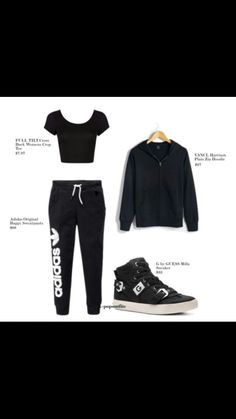 outlet store 4ed47 05b59 A fashion look from July 2014 featuring Full Tilt t-shirts, adidas Originals  activewear pants and G by Guess sneakers. Browse and shop related looks.