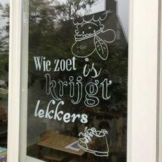 Dear Sint, I have been very sweet - Windowdrawing - Sinterklaas decoration - Saint window decoration - December 5 - party month Fruit Water, Chalkboard Art, Flocking, December, Diy Crafts, Drawings, Etsy, Inspiration, Windows