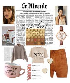 """Latte Love"" by audreypoe on Polyvore featuring Victoria Beckham, Laura Mercier, ZOEVA, River Island, Balmain, Shashi and Hourglass Cosmetics"