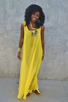 Nothing says summer like this dress!  Would be a fun cover-up!