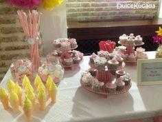 Mesa dulce Cake, Desserts, Food, Candy Buffet, Candy Stations, Pie Cake, Meal, Cakes, Deserts