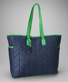 Navy Oversize Quilted Tote