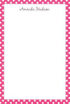 Personalized Pink Polka Dot Notepad ($37.95)