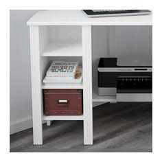 BRUSALI Corner desk, white white 120x73 cm