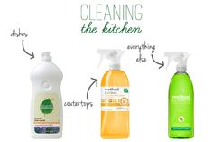 green kitchen cleaning products