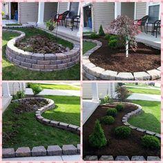 Check over here Acreage Landscaping Ideas Acreage Landscaping, Front Garden Landscape, Cheap Landscaping Ideas, Small Front Yard Landscaping, House Landscape, Outdoor Landscaping, Outdoor Gardens, Landscape Designs, Garden Yard Ideas