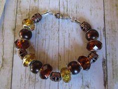 Copper Bracelet Brown Bracelet Euro Style by BrownBeaverBeadery