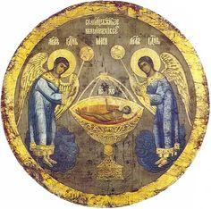 СЕ АГНЕЦ БОЖИЙ Икона, исполненная на шелке. XVII век (?). Частное собрание.
