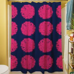 Manual Woodworkers & Weavers Pod Dots Shower Curtain