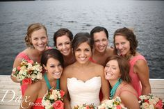 Coral and turquoise wedding!