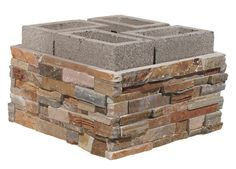 Upgrade those cinder block flower beds! Upgrade those cinder block flower beds! Stone Flower Beds, Raised Flower Beds, Raised Garden Beds, Raised Beds, Raised Patio, Outdoor Projects, Garden Projects, Ideas Terraza, Stone Veneer
