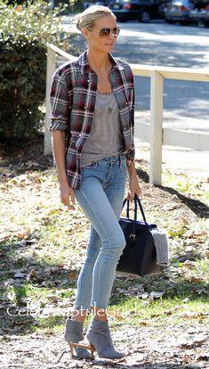 Heidi Klum Is Pretty In Plaid