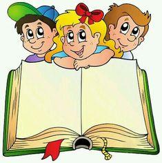 Schulkinder www.cz/ Schulkinder www. School Border, Book Clip Art, School Murals, School Clipart, School Frame, Cute Clipart, School Decorations, Three Kids, Kids Education