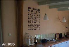 Keuken tekst, iets voor op school?