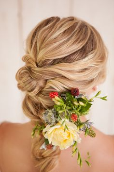 French braid twist tutorial. A really great twist on the traditional french braid hairstyle for weddings.