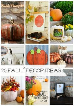 20 Fall Decor Ideas -so fun!