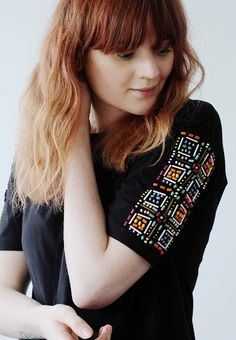 Декор рукавов футболки (Diy)