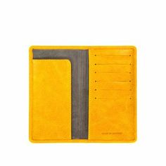Gorgeous yellow leather wallet for summer and spring.