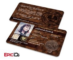 "The Hunger Games Inspired Panem District 7 ""Johanna"" Identification Card"