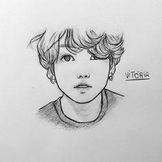 Kpop Drawings, Art Drawings Sketches Simple, Pencil Art Drawings, Realistic Drawings, Korean Art, Arte Pop, Anime Sketch, Cute Art, Art Reference