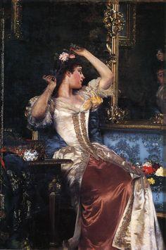 Preparing for the Ball by Ladislas Wladislaw von Czachorski, 1888